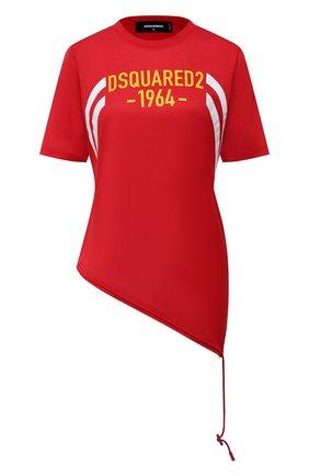 Женская хлопковая футболка DSQUARED2 красного цвета, арт. S75GD0171/S23848 | Фото 1