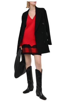 Женский хлопковый пуловер DSQUARED2 красного цвета, арт. S75HA1045/S17612 | Фото 2