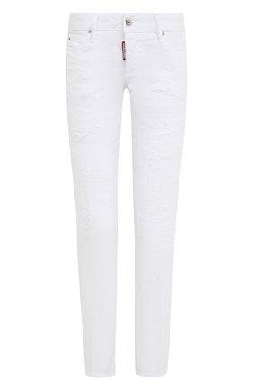Женские джинсы DSQUARED2 белого цвета, арт. S75LB0434/STN833 | Фото 1