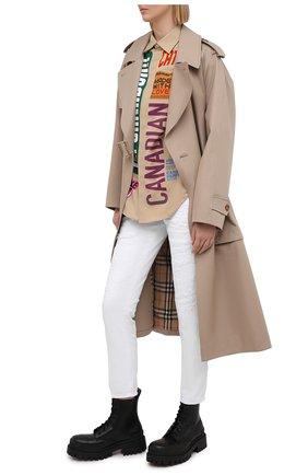 Женские джинсы DSQUARED2 белого цвета, арт. S75LB0434/STN833 | Фото 2