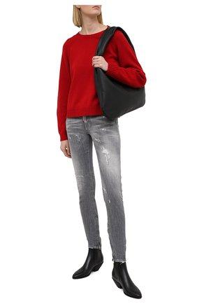 Женские джинсы DSQUARED2 серого цвета, арт. S75LB0446/S30260   Фото 2