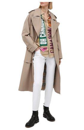 Женские джинсы DSQUARED2 белого цвета, арт. S75LB0468/S39781 | Фото 2