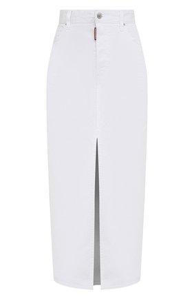 Женская джинсовая юбка DSQUARED2 белого цвета, арт. S75MA0765/S39781 | Фото 1