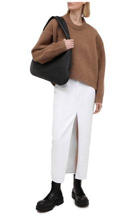 Женская джинсовая юбка DSQUARED2 белого цвета, арт. S75MA0765/S39781 | Фото 2