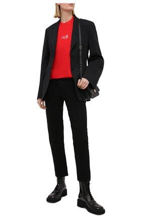 Женская хлопковая футболка DSQUARED2 красного цвета, арт. S80GC0009/S23009 | Фото 2