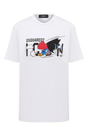 Женская хлопковая футболка DSQUARED2 белого цвета, арт. S80GC0017/S23009 | Фото 1