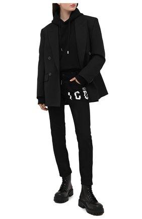Женские джинсы DSQUARED2 черного цвета, арт. S80LA0020/S30564 | Фото 2