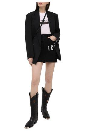 Женская джинсовая юбка DSQUARED2 черного цвета, арт. S80MA0008/S30564 | Фото 2