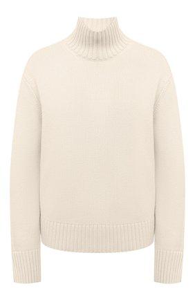 Женский кашемировый свитер LORO PIANA кремвого цвета, арт. FAL5048 | Фото 1