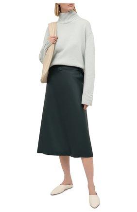 Женский кашемировый свитер LORO PIANA светло-зеленого цвета, арт. FAL5048 | Фото 2