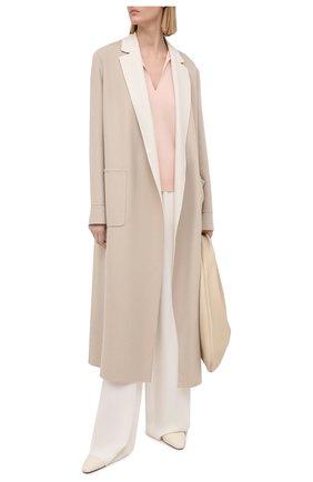 Женский пуловер из кашемира и шелка LORO PIANA светло-розового цвета, арт. FAL5225 | Фото 2