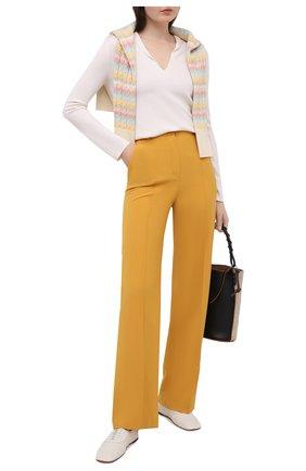 Женские шерстяные брюки LORO PIANA желтого цвета, арт. FAL5626 | Фото 2