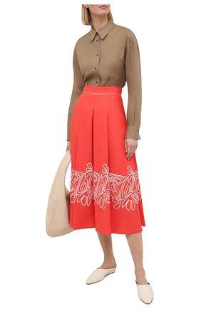 Женская льняная рубашка LORO PIANA коричневого цвета, арт. FAL5890 | Фото 2