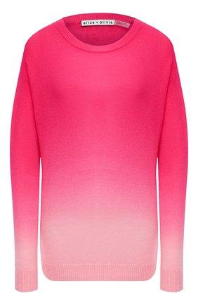 Женский кашемировый пуловер ALICE + OLIVIA розового цвета, арт. CC011S28715 | Фото 1