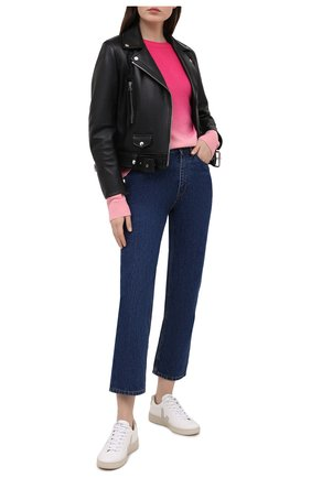 Женский кашемировый пуловер ALICE + OLIVIA розового цвета, арт. CC011S28715 | Фото 2