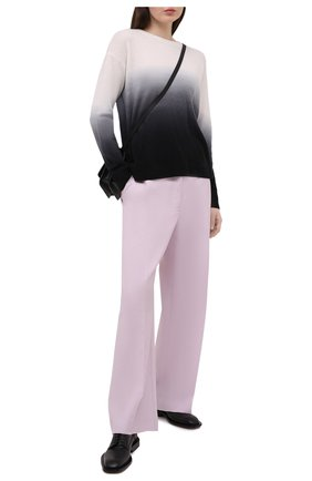 Женский кашемировый пуловер ALICE + OLIVIA черно-белого цвета, арт. CC011S28715 | Фото 2