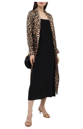 Женские кожаные босоножки manhattan 55 GIANVITO ROSSI бежевого цвета, арт. G30142.55RIC.VERPRAL | Фото 2