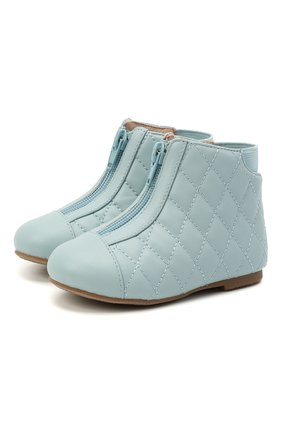 Детские кожаные ботинки AGE OF INNOCENCE голубого цвета, арт. 000143/NIC0LE/22-28 | Фото 1 (Материал внутренний: Натуральная кожа)