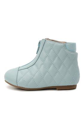 Детские кожаные ботинки AGE OF INNOCENCE голубого цвета, арт. 000143/NIC0LE/22-28 | Фото 2 (Материал внутренний: Натуральная кожа)