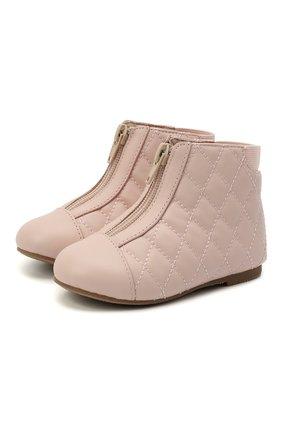 Детские кожаные ботинки AGE OF INNOCENCE розового цвета, арт. 000143/NIC0LE/22-28 | Фото 1