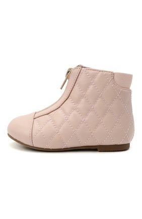 Детские кожаные ботинки AGE OF INNOCENCE розового цвета, арт. 000143/NIC0LE/22-28 | Фото 2