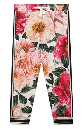 Детские хлопковые брюки DOLCE & GABBANA разноцветного цвета, арт. L2JP4F/FSGUD | Фото 1