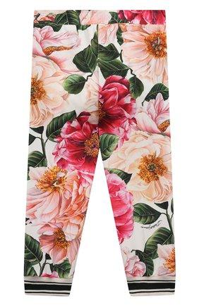 Детские хлопковые брюки DOLCE & GABBANA разноцветного цвета, арт. L2JP4F/FSGUD | Фото 2