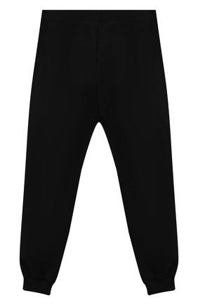 Детские хлопковые джоггеры MOSCHINO черного цвета, арт. HMP03L/LDA27/10A-14A | Фото 2