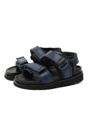 Детские кожаные сандалии GALLUCCI синего цвета, арт. J10078AM/SA P C G0M MAI/VIT | Фото 1