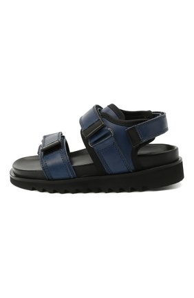 Детские кожаные сандалии GALLUCCI синего цвета, арт. J10078AM/SA P C G0M MAI/VIT | Фото 2