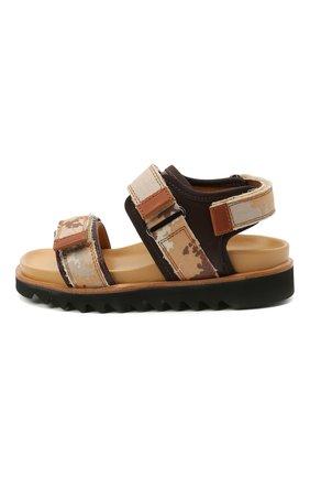 Детские кожаные сандалии GALLUCCI коричневого цвета, арт. J10078CM/SA P C G0M MAI/TMI/MAI | Фото 2