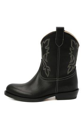 Детские кожаные ботинки GALLUCCI черного цвета, арт. J30109AM/TR P V CUG MAI | Фото 2 (Материал внутренний: Натуральная кожа; Кросс-КТ: полусапоги)