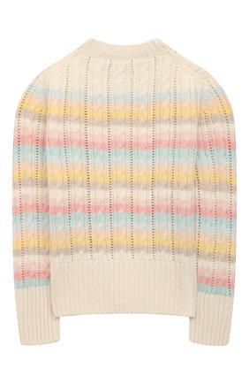 Детский кашемировый пуловер LORO PIANA розового цвета, арт. FAL5762 | Фото 2