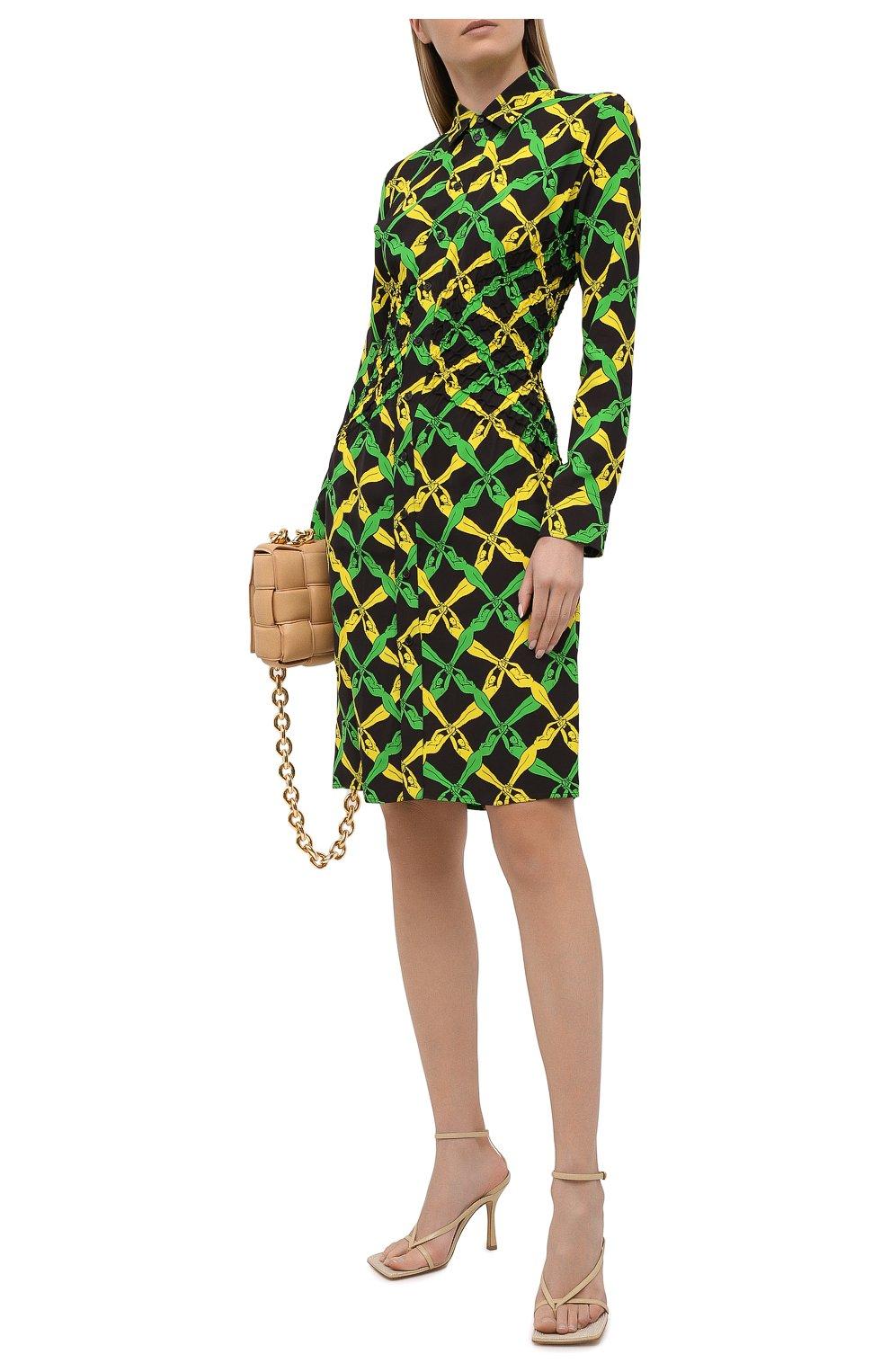 Женское платье из вискозы BOTTEGA VENETA разноцветного цвета, арт. 651741/V0G60 | Фото 2