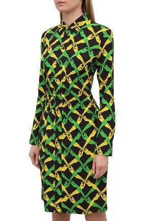 Женское платье из вискозы BOTTEGA VENETA разноцветного цвета, арт. 651741/V0G60 | Фото 3