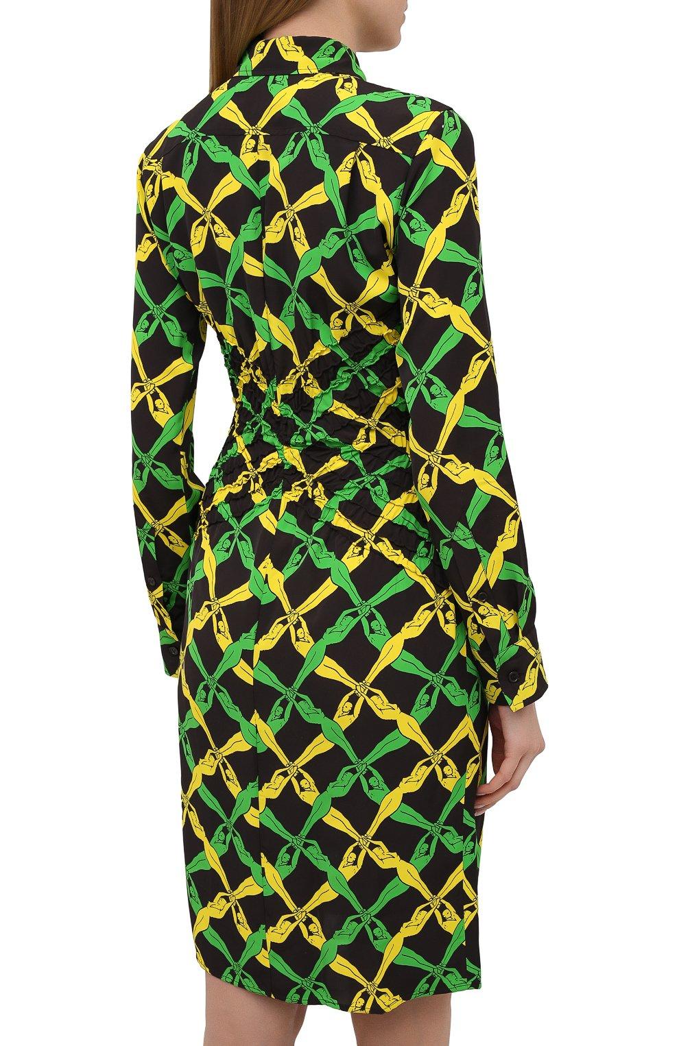 Женское платье из вискозы BOTTEGA VENETA разноцветного цвета, арт. 651741/V0G60 | Фото 4