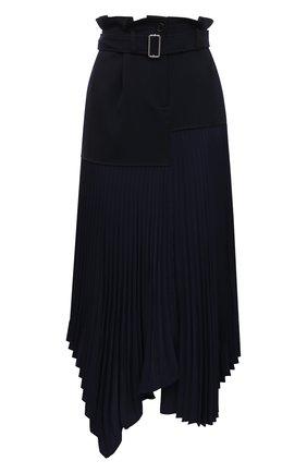 Женская шерстяная юбка JW ANDERSON темно-синего цвета, арт. SK0064 PG0011 | Фото 1
