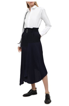 Женская шерстяная юбка JW ANDERSON темно-синего цвета, арт. SK0064 PG0011 | Фото 2