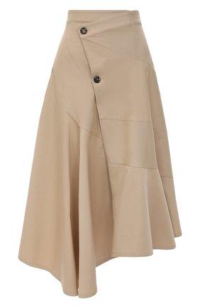 Женская хлопковая юбка JW ANDERSON бежевого цвета, арт. SK0068 PG0110 | Фото 1