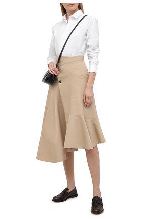 Женская хлопковая юбка JW ANDERSON бежевого цвета, арт. SK0068 PG0110 | Фото 2
