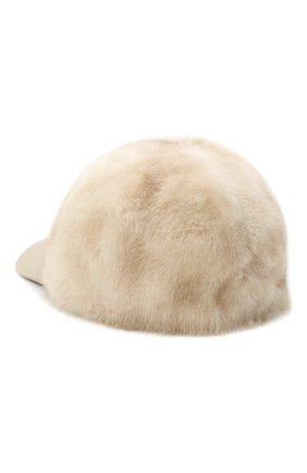 Женская кепка из меха норки KUSSENKOVV бежевого цвета, арт. 852108524006 | Фото 2