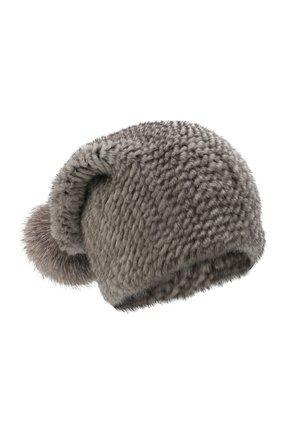 Женская шапка пиноккио из меха норки KUSSENKOVV серого цвета, арт. 50650010205 | Фото 1