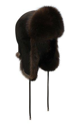 Женская шапка-ушанка из меха норки KUSSENKOVV черного цвета, арт. 90213583093 | Фото 1