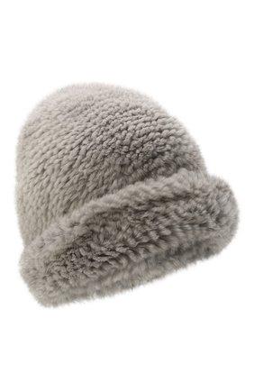 Женская шапка пиноккио из меха норки KUSSENKOVV темно-серого цвета, арт. 50750036202 | Фото 1