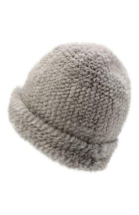 Женская шапка пиноккио из меха норки KUSSENKOVV темно-серого цвета, арт. 50750036202 | Фото 2