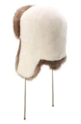 Женская шапка-ушанка из меха норки и соболя KUSSENKOVV разноцветного цвета, арт. 91203641093 | Фото 2