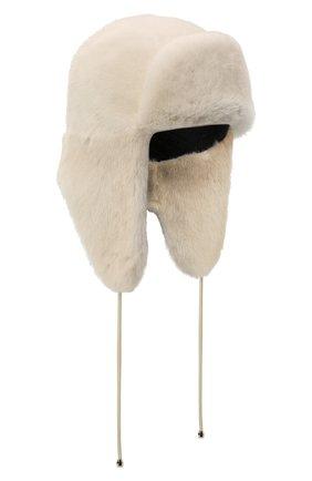Женская шапка-ушанка из меха норки KUSSENKOVV бежевого цвета, арт. 91200012094 | Фото 1