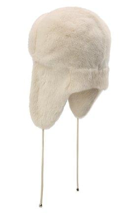 Женская шапка-ушанка из меха норки KUSSENKOVV бежевого цвета, арт. 91200012094 | Фото 2