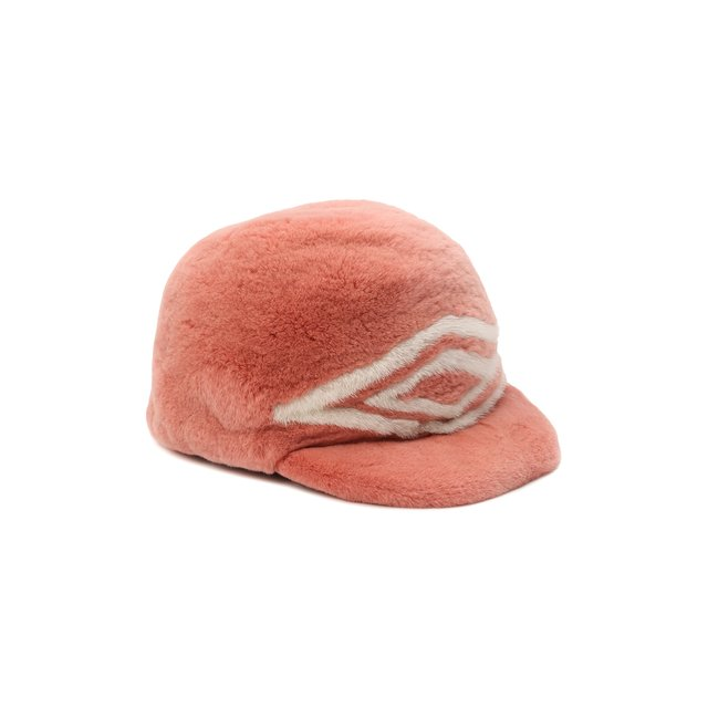 Бейсболка Габриела из меха норки FurLand. Цвет: розовый