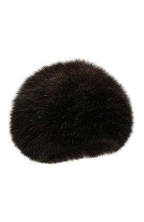 Женский берет из меха соболя KUSSENKOVV темно-коричневого цвета, арт. 13550004008 | Фото 1